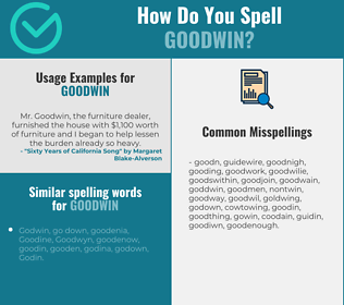 Correct spelling for Goodwin