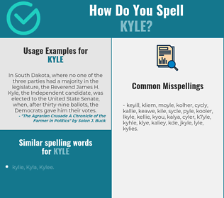 Correct spelling for Kyle