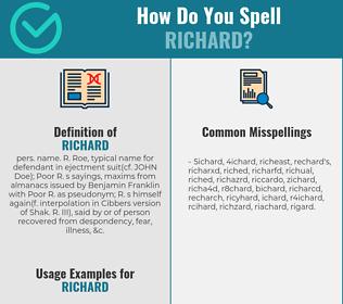 Correct spelling for Richard