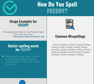 Correct spelling for Freddy