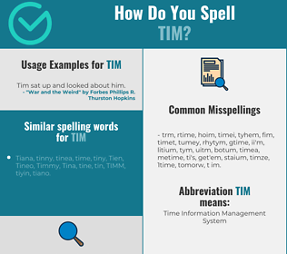 Correct spelling for Tim
