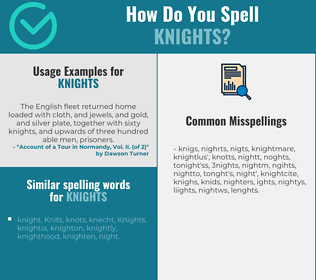 Correct spelling for Knights