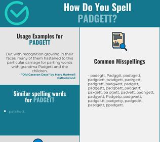 Correct spelling for Padgett