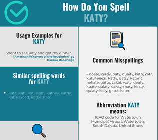 Correct spelling for Katy