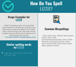 Correct spelling for Lizzie