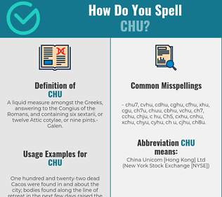 Correct spelling for Chu