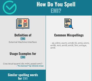 Correct spelling for Emi