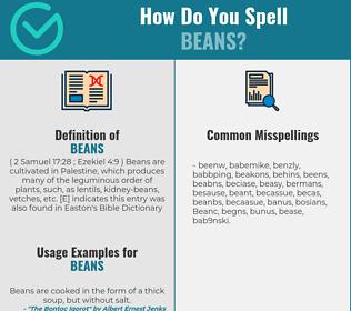Correct spelling for Beans