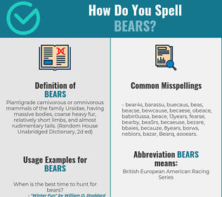 Correct spelling for Bears