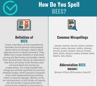 Correct spelling for Bees