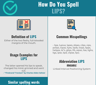 Correct spelling for Lips