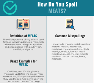Correct spelling for Meats