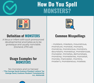 Correct spelling for Monsters