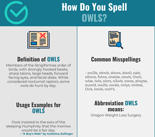 Correct spelling for Owls