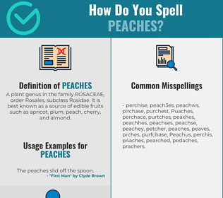 Correct spelling for Peaches