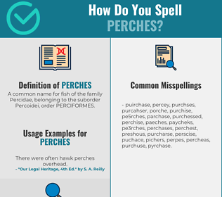 Correct spelling for Perches