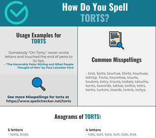 Correct spelling for Torts