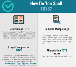 Correct spelling for Toys
