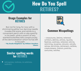 Correct spelling for retires