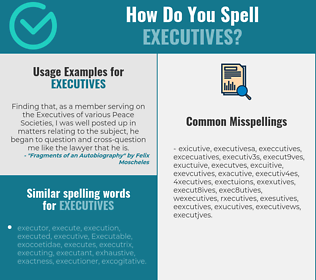 Correct spelling for executives