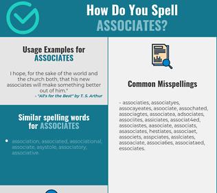 Correct spelling for associates