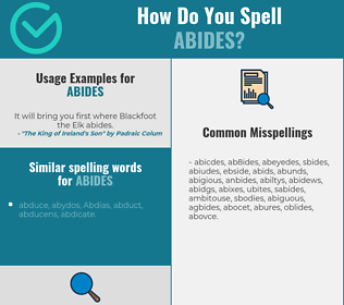 Correct spelling for abides