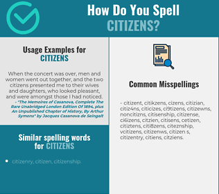 Correct spelling for citizens