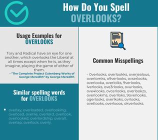 Correct spelling for overlooks