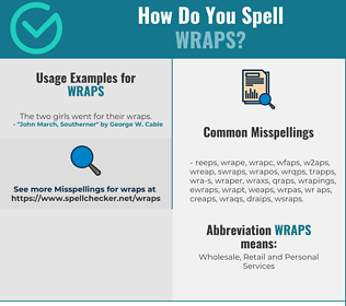 Correct spelling for wraps