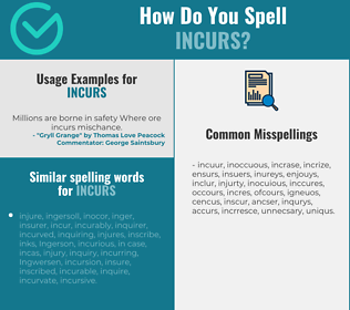 Correct spelling for incurs