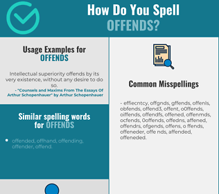 Correct spelling for offends