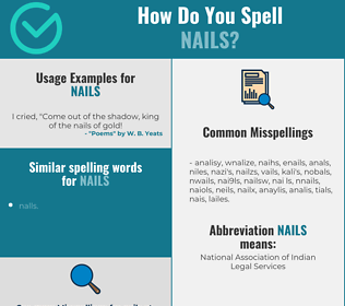 Correct spelling for nails