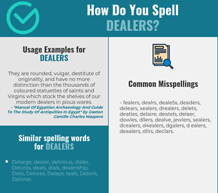Correct spelling for dealers