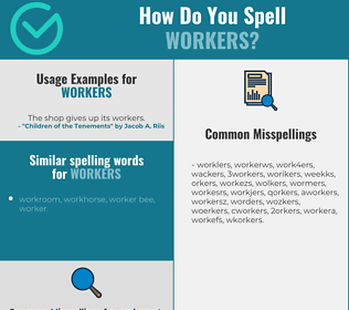 Correct spelling for workers