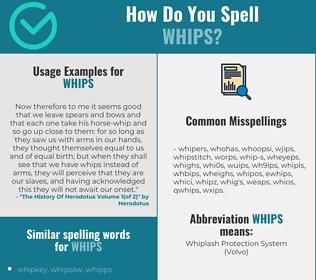 Correct spelling for whips