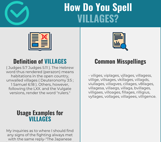 Correct spelling for villages