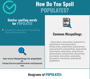 Correct spelling for populates