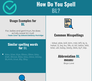 Correct spelling for BL