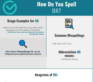 Correct spelling for UA
