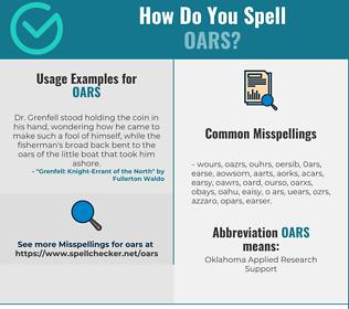 Correct spelling for OARS