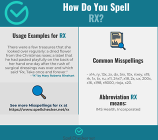 Correct spelling for RX
