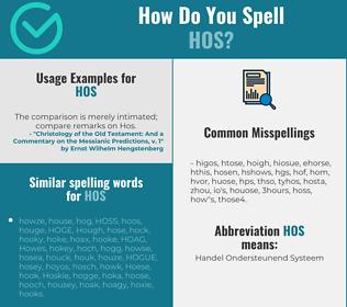 Correct spelling for HOS