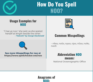 Correct spelling for NOO