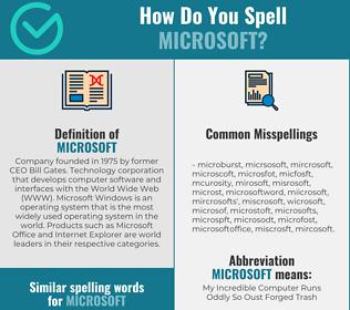 Correct spelling for MICROSOFT