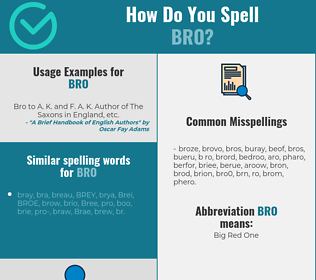 Correct spelling for BRO