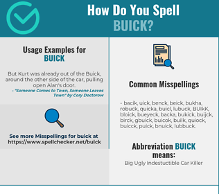 Correct spelling for BUICK