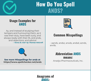 Correct spelling for ANDS