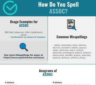 Correct spelling for ASSOC