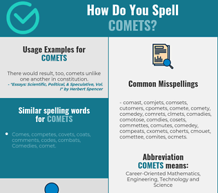 Correct spelling for COMETS