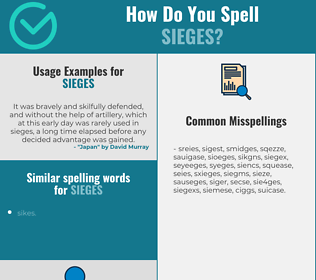 Correct spelling for sieges